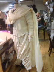 Initial draping of the garments to provide a leaping off point for discussions with the designer concerning pattern, scale and construction techniques.