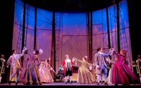 The ball scene in the musical Amazing Grace at the Bank of America Theatre in Chicago.