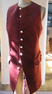 Townsperson waistcoat, early 18th century style