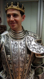 Mr. Fontana's fitting, detail of breastplate, gorget and crown