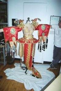 Affectionately dubbed the Chinese monster, Kitty's costume uses multiple craft and sewing construction techniques.