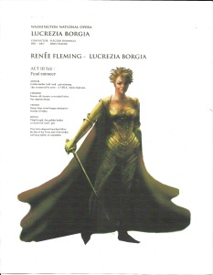 John Pascoe's costume rendering for Renee Fleming as the title character, in Act III of Lucrezia Borgia at the Washington National Opera