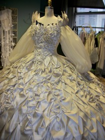 Wedding dress, front view