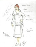 The innermost layer of the double underdress onstage quick change is a 1920's day dress designed by Mr. Poplyk.