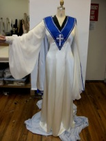 Preaching robe covers two onstage costume reveals