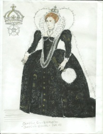William Ivey Long's design for Queen Elizabeth I