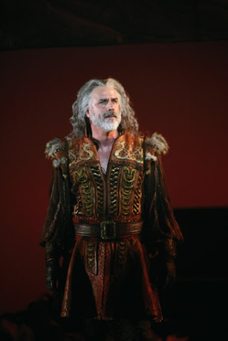 Jeff McCarthy as the King Dubhdara at the start of the Broadway production of Boublil and Schonberg's The Pirate Queen