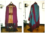 A pieced Celtic cloak with hammered findings