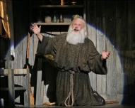 Fred Applegate as the Hermit in Young Frankenstein