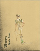 Hamlet-a Tudor-esque tennis outfit with Chuck Taylors and jock-strap as codpiece.