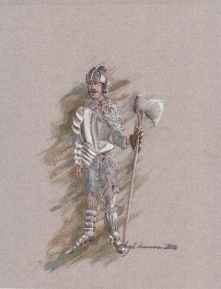 Costume rendering for The Guard