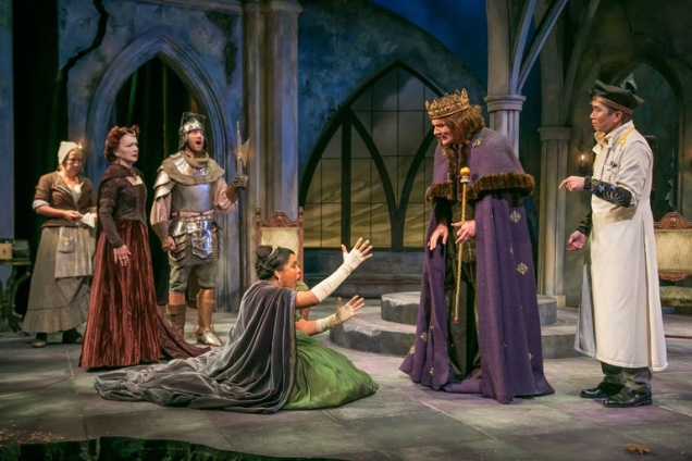 Full company of Exit the King at the Shakespeare Theatre of New Jersey