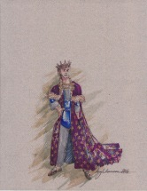 Costume rendering for King Berenger the First