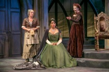 Queen Marie played by Jesmille Darbouze with Juliette (Kristie Dale Sanders) left and Queen Marguerite (Marion Adler) right